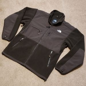 The North Face Brown Fleece Zipper Sweatshirt L